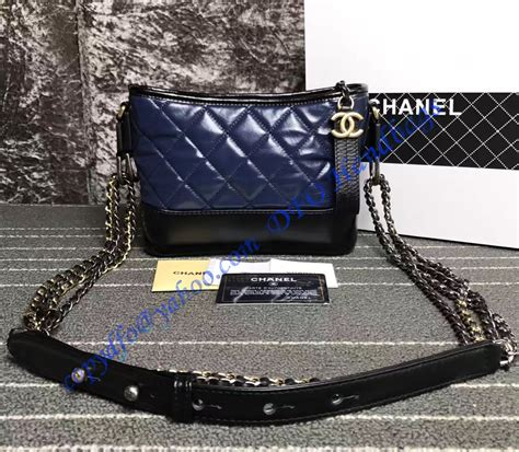 chanel gabrielle small hobo bag blue black luxtime dfo