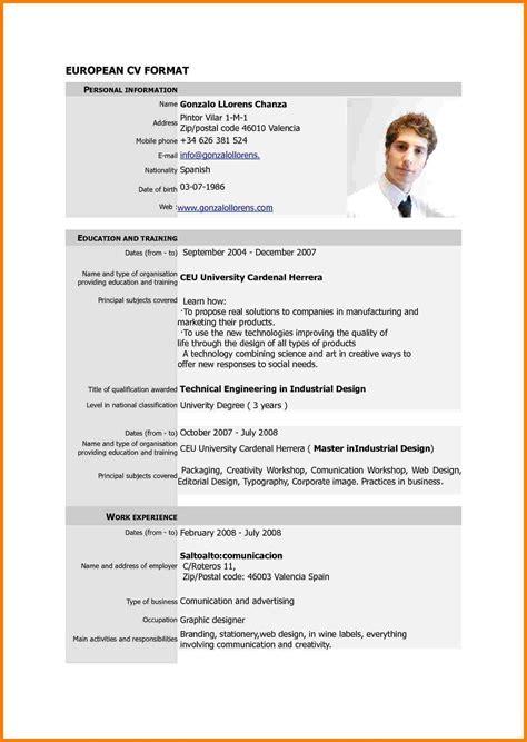 New Resume Format by Resume Format New Cv Format Sle Resume Format