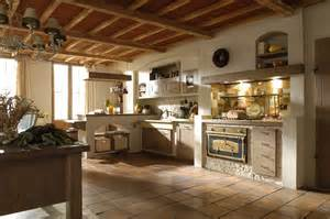 Cucine bianche country chic in muratura legno