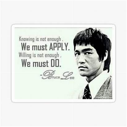 Lee Bruce Quote Stickers Determination Motivation Must