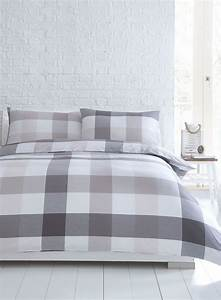 Natural, Cotton, U0026, Co, Melbourne, Woven, Check, Bedding, Set