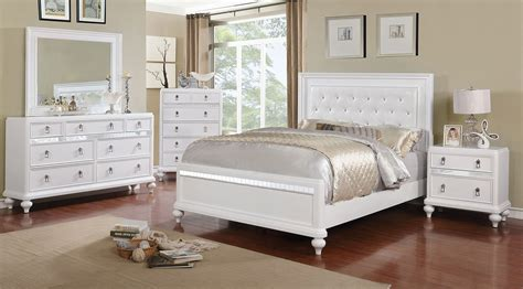 piece ariston silver finish modern bedroom set usa