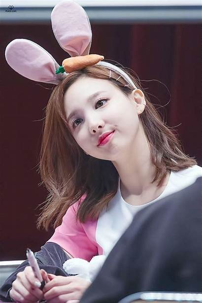 Twice Nayeon Bunny Contacts Ears Wallpapers Colored