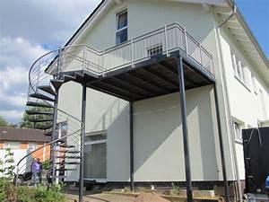 details zu balkon anbaubalkon verzinkt wendeltreppe With französischer balkon mit rost skulpturen für den garten