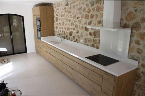 cuisine plan travail bois cuisine bois cuisine bois plan travail blanc