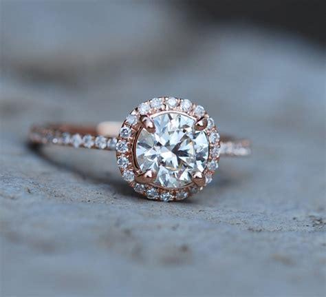 captivating beautiful rose gold engagement rings