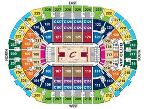 Cavs Floor Seat Viewer by Seating Charts Quicken Loans Arena Official Website
