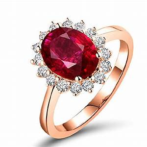 Real Ruby Gemstone Diamond Wedding Ring Engagement Bands ...