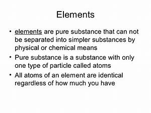 Mixtures, solutions, elements, compounds