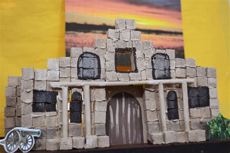 How To Build The Alamo For A School Project