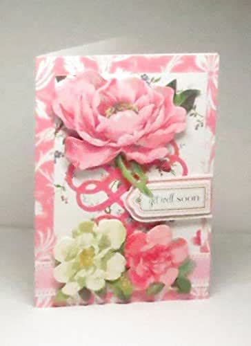 amazoncom handmade  anna griffin pink white roses