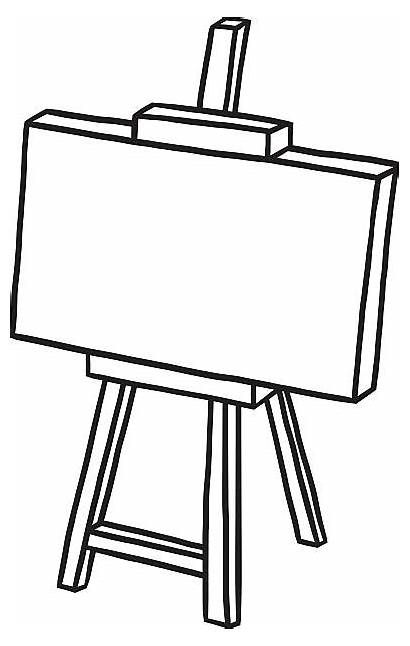 Canvas Blank Vector Easel Clip Wooden Illustrations