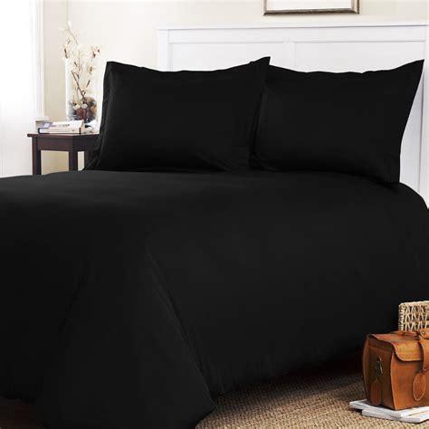 Black Duvet Cover by Roxbury Park Solid Black King Size 3 Duvet Cover Set