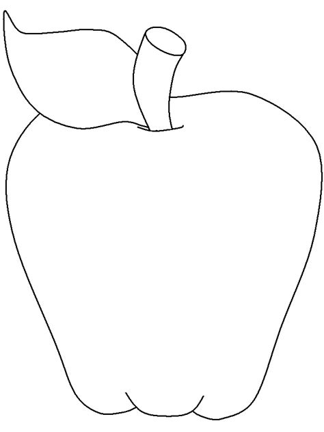 Apple Template Outline Template Printable Clipart Panda Free