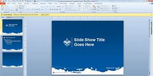 boy scouts have their own powerpoint template designs With cub scout powerpoint template