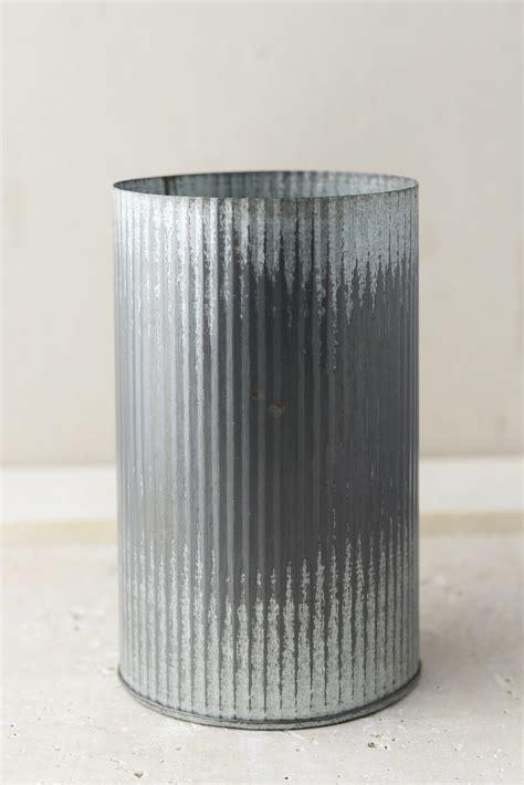norah corrugated zinc vase