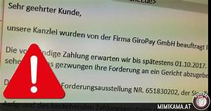 Offene Rechnung Giropay : offene rechnung von giropay drohung mit gericht mimikama ~ Themetempest.com Abrechnung