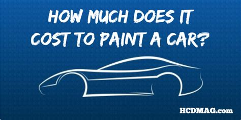 How Much Does It Cost To Paint A Car? 3 Actual Estimates