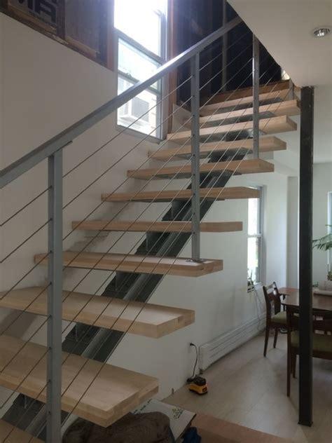 beam staircase modern staircase philadelphia