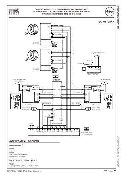 schema elettrico citofono urmet 1131 ourclipart