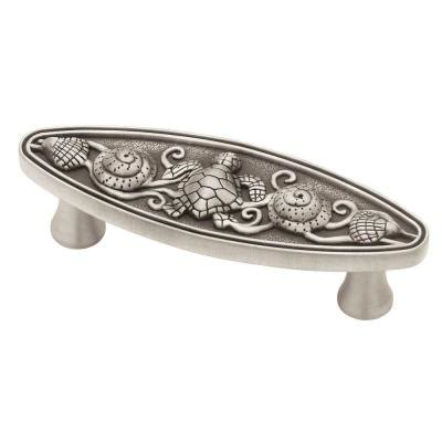home depot kitchen cabinet knobs liberty seaside cottage 3 in 76mm brushed satin pewter