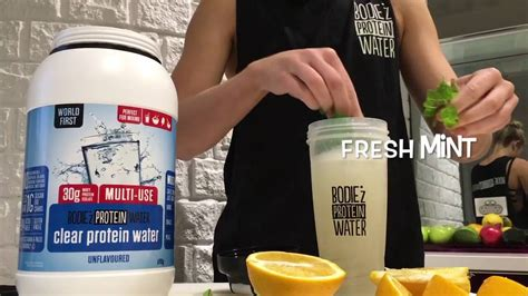 BODIE'z Clear Protein Water - Unflavoured infusion - YouTube