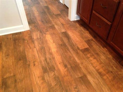 linoleum flooring looks like wood wood look linoleum floor in delagrange s dalton cottage ii ft wayne home builder s assoc 2013