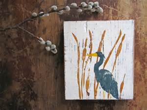 Heron and Cattails Silhouette
