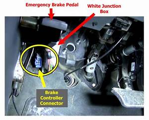 Locating Brake Controller Install Connector On 2004 Dodge