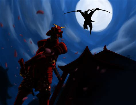 Samurai Vs Ninja By Wow-200 On Deviantart