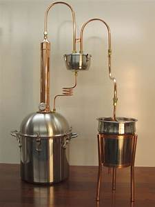 Alcohol Ethanol Moonshine Copper Tower Still 4 Gallon