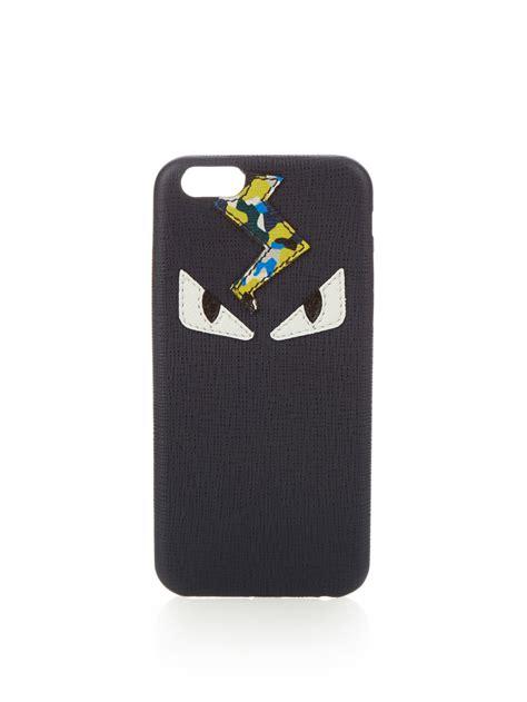 fendi iphone fendi bag bugs iphone 174 6 in black for lyst