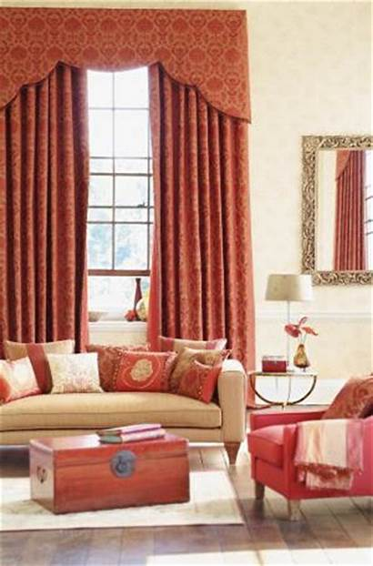 Curtains Drapes Living Pink Salmon Rooms Rust