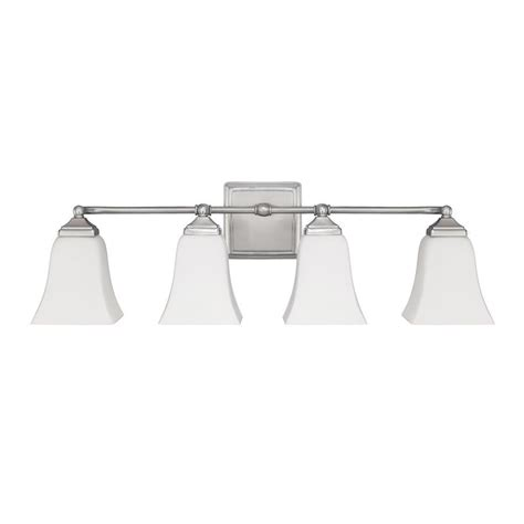 Brushed Nickel Bathroom Light Fixtures by Capital Lighting 4 Light Vanity Fixture Brushed Nickel