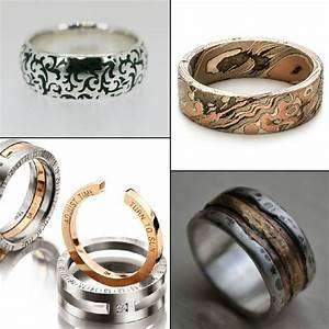 20 refreshingly unique wedding rings for men With unusual wedding rings for men