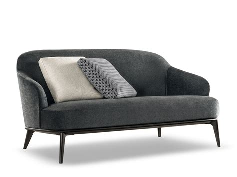 Milano Leather Sofa by Leslie Sofa By Minotti