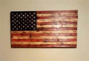 Rustic Wood American Flag