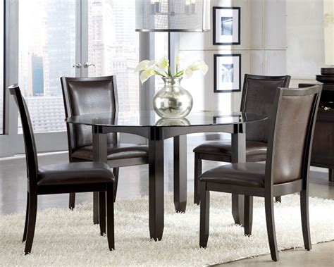 Ortanique Glass Dining Room Set by Glass Dining Set Contemporary Furniture Stores Chicago