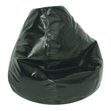 american furniture alliance adult bean bag wetlook jet