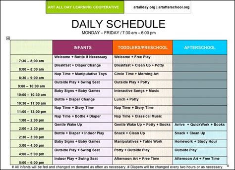 plan daily schedule pictures of preschool daily routines arts afterschool