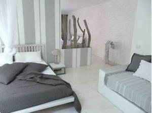 Chambre Ambiance Zen : couleur chambre cama eu de gris et blanc ambiance zen ~ Zukunftsfamilie.com Idées de Décoration