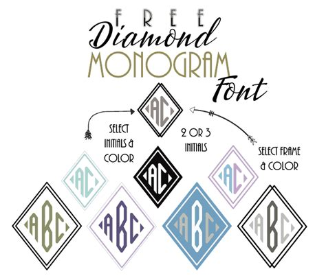 diamond monogram font customize