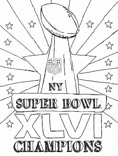 Bowl Trophy Coloring Super Pages Patriots England