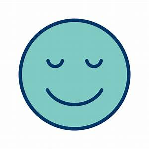 Icono Calma, emoticon, la cara sonriente Gratis de ...