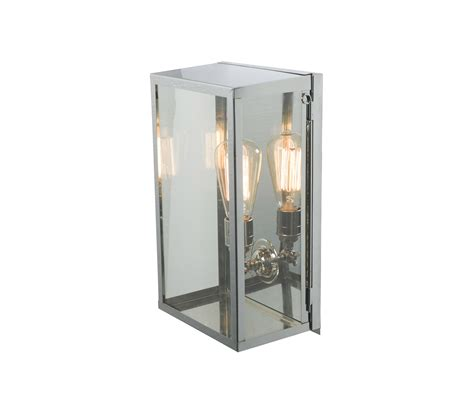7645 box wall light internal glass medium satin nickel