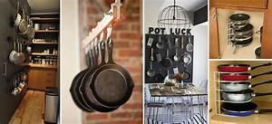 10 ideas creativas para organizar los sartenes y ollas en tu cocina Mujer de 10