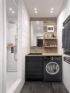 salle de bains noir et bois picslovin With salle de bain noir et bois