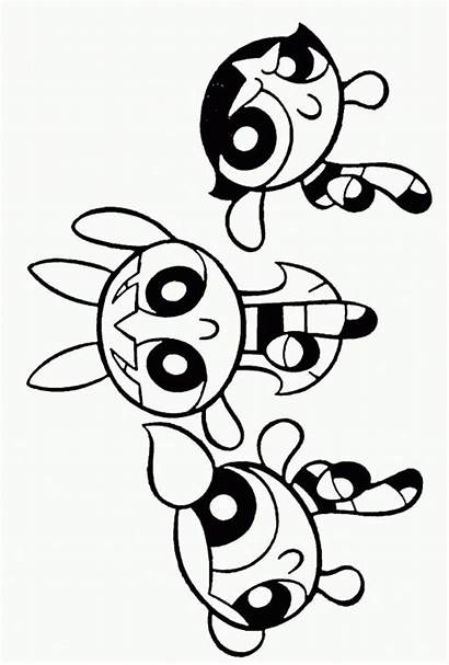 Coloring Powerpuff Pages Printable