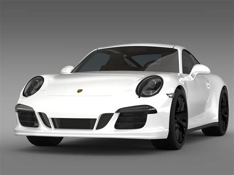 Porsche 911 Carrera 4 Gts Coupe 991 2018 3d Model Max Obj