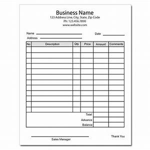 Ticket Printing Templates Business Forms Custom Invoices Receipt Books